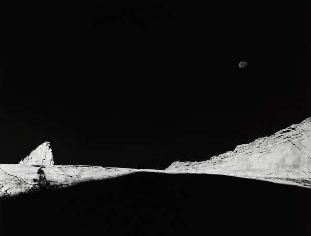 High County Crags and Moon