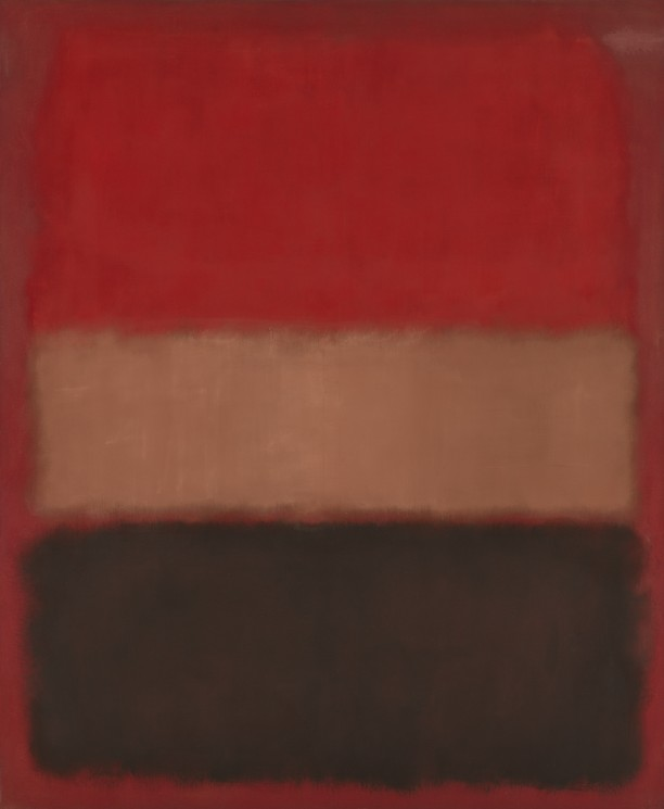 No. 46 [Black, Ochre, Red Over Red]