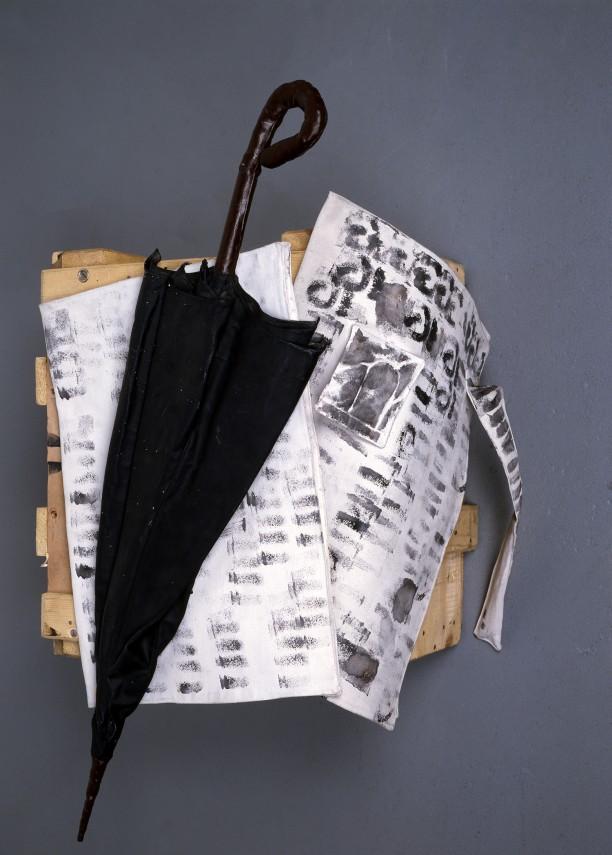 Umbrella and Newspaper