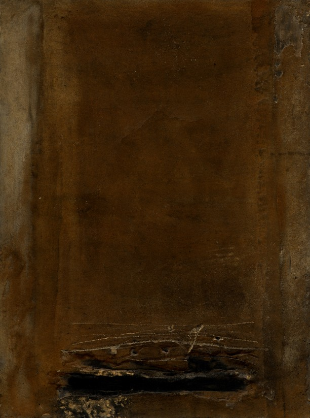 Ochre-Brown with Black Crack. No. XVIII