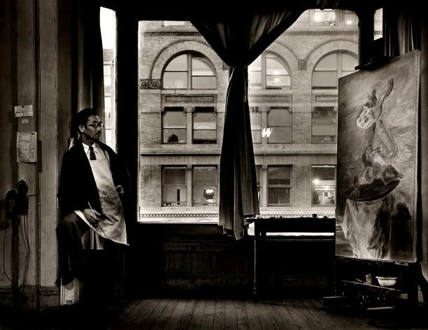 Kuniyoshi At His Studio