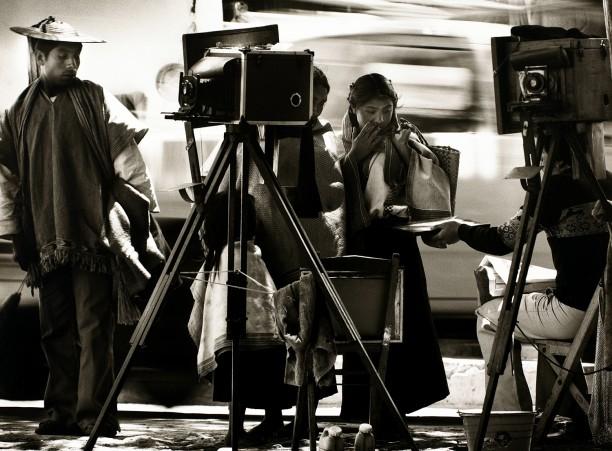 Mayan Indians and Photographer