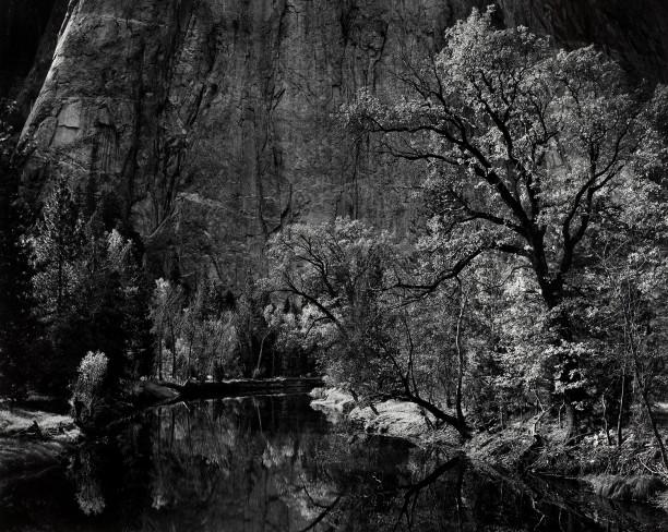 Merced River, Cliffs, Autumn, Yosemite Valley, California