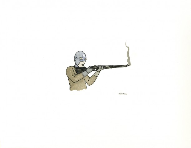 Untitled (Ms. Captn. America with Rifle)