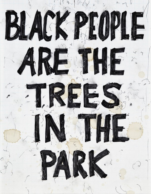 Black people are the trees in the park