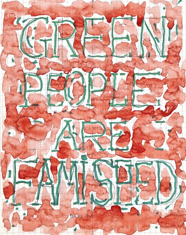 Green people are famished