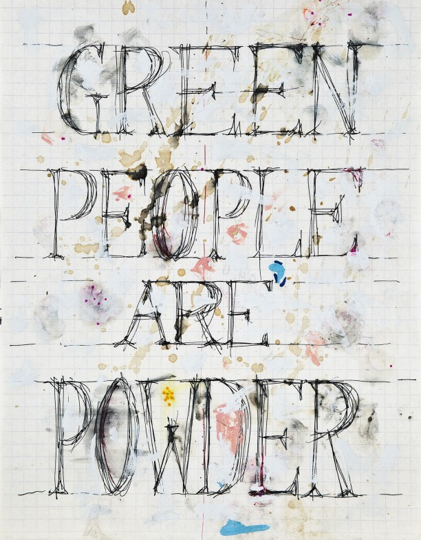 Green people are powder