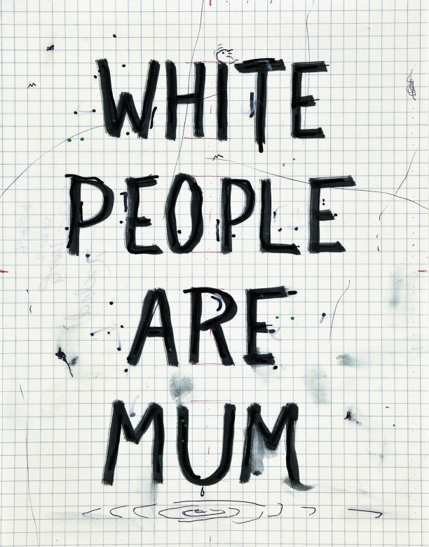 White people are mum