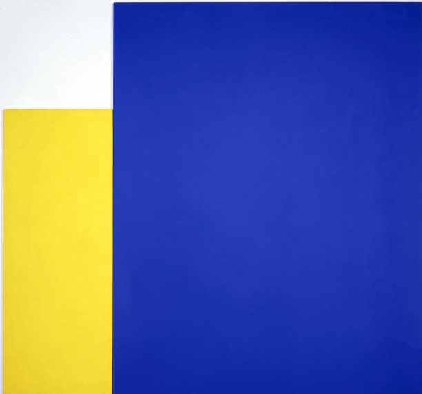 Two Panels: Yellow with Large Blue