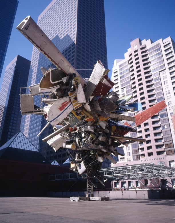 Chas' Stainless Steel, Mark Thompson's Airplane Parts, About 1,000 Pounds of Stainless Steel Wire, and Gagosian's Beverly Hills Space at MOCA