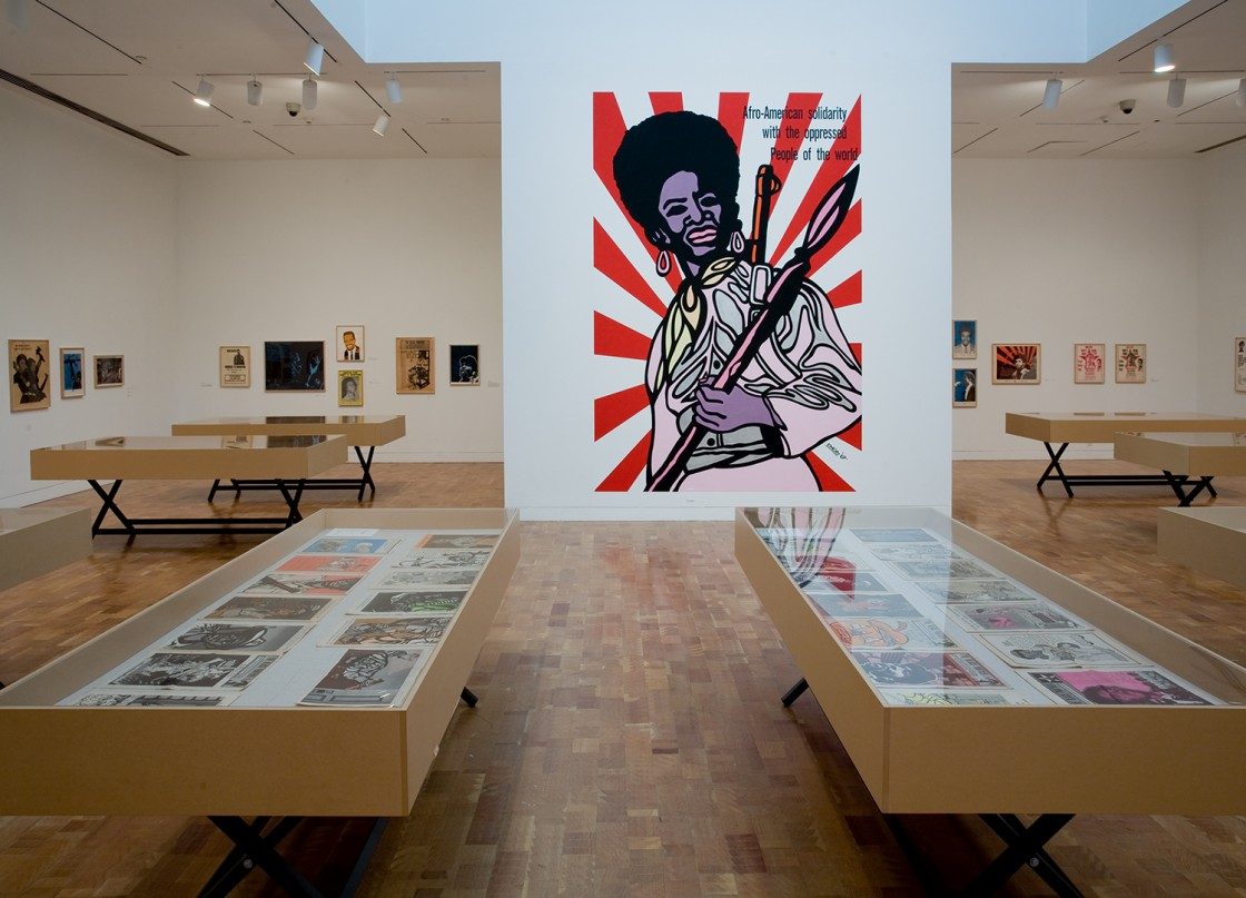 Installation view of Black Panther: The Revolutionary Art of Emory Douglas