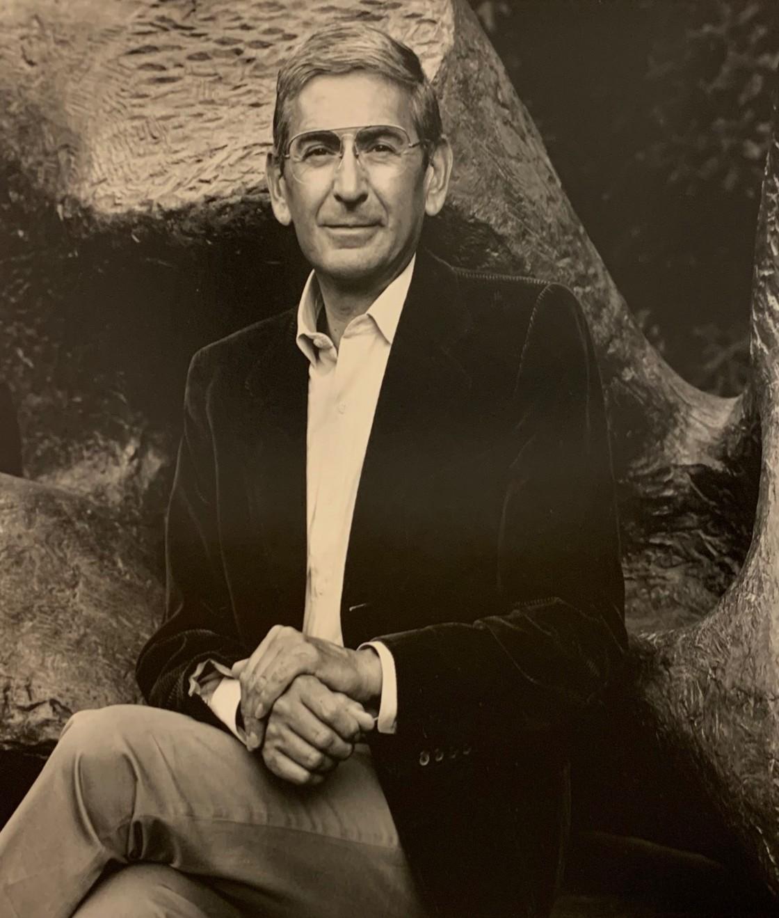 Portrait of Eli Broad by Luca Vignelli