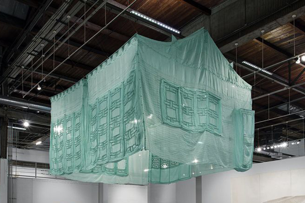 Do-Ho Suh, Seoul Home/L.A. Home/New YorkHome/Baltimore Home/LondonHome/Seattle Home/L.A. Home,1999, Silk and metal armatures.